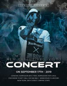 Concert Template Exclusive Dj Concert Flyer Design Template In Psd Word