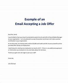 How To Accept Offer Of Employment Free 7 Job Offer Email Examples Amp Samples In Pdf Doc