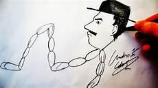 como desenhar o prof girafales sr lingui 231 a caricatura