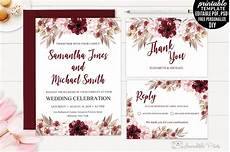 wedding invitation card template marsala wedding invitation template wedding templates