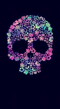 floral skull iphone wallpaper sweet floral skull galaxy wallpaper i created for the app