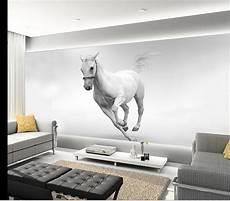 Horses Sofa 3d Image by Custom 3d Photo Wallpaper Living Room Mural White