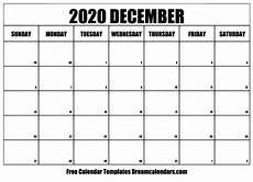 Free December 2020 Calendar December 2020 Calendar Free Blank Printable Templates