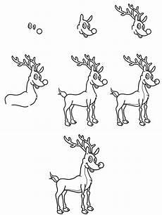 ausmalbild weihnachten wie malt ein rentier