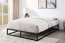 amersham black metal low platform bed frame single