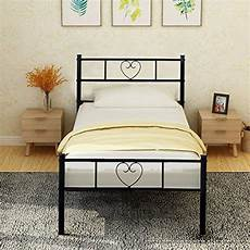 aingoo single bed frame solid 3ft metal beds with