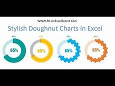 3d Donut Chart Excel Stylish Doughnut Chart In Excel Youtube