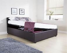 ottoman side lift bedstead gas lift storage bed faux