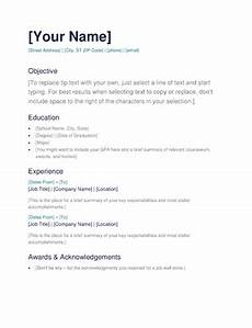 Easy Resume Format Download Download Resume Formats Amp Pdf Templates