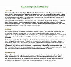 Technical Templates Free 17 Sample Engineering Reports In Pdf Ms Word Pages