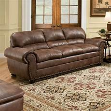 brown leather sofa modern loveseat contemporary faux