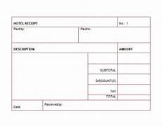 free hotel receipt template hotel receipt template 8 free sle exle format