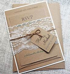 Rustic Country Wedding Invitations Rustic Wedding Invitation Lace Wedding By Loveofcreating