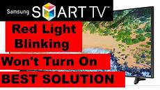 Samsung Tv Wont Turn On But Red Light Flashes How To Fix Samsung Tv Won T Turn On But Red Light Is On