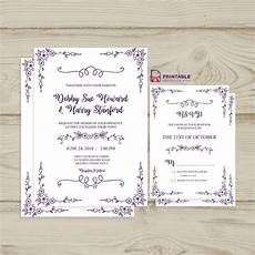 Pdf Invitations Free Pdf Download Wedding Invitation And Rsvp Doodle F