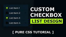 Custom Checkbox Design Css Custom Checkbox List Design Html And Css Youtube