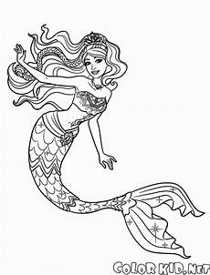 malvorlagen stilvolle meerjungfrau