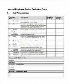 Employee Review Form Free 36 Printable Employee Evaluation Forms In Pdf Ms
