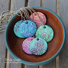 damask polymer clay pendants made with sculpey
