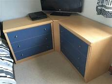 bedroom units 3 drawer chest x 2 desk with 3 drawer