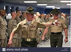 Marines Corps Drill Instructor A Us Marine Corps Drill Instructor Yells At New Recruits
