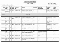 Shooting Schedule Sample Shooting Schedule 3 Mechanical Sympathy