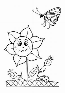 flowers coloring sheet allfreekidscrafts