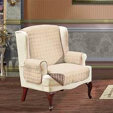 reversible slipcover furniture protector wing chair