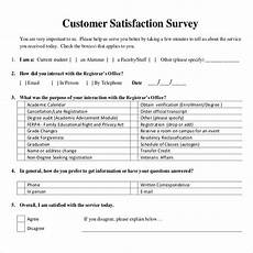 Service Questionnaire Template 16 Customer Satisfaction Survey Templates Free Word
