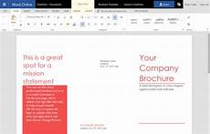 Make A Trifold Brochure In Word How To Create A Trifold Brochure In Word Online