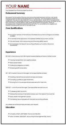 Cv Personal Statement Examples Finance Cv Sample With A Personal Statement Myperfectcv