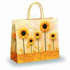 Designer Paper Bags For Sale Yellow Petal Design Paper Bags Paper Carrier Bags