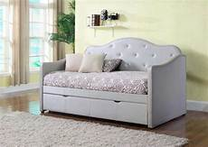 grey leatherette daybed co629 transitional