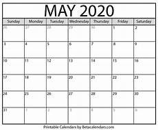 May 2020 Calendar Blank Blank May 2020 Calendar Printable Beta Calendars