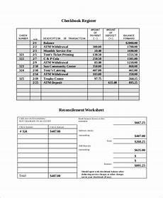 Sample Checkbook Free 8 Sample Check Register Templates In Ms Word Excel