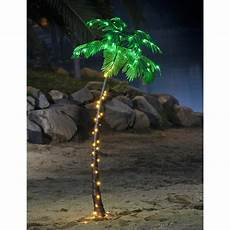Fake Christmas Tree With Lights Lighted Palm Tree 7 Ft Fake Artificial 96 Led Lights