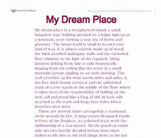 Dream Vacation Essay My Dream Vacation Short Essay