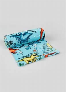 dinosaur fleece throw blanket 150cm x 130cm n ie