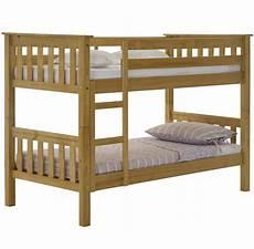 bunk bed pine wood frame barcelona slatted style