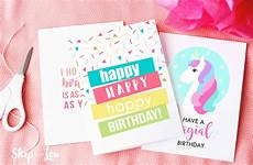 Printable Happy Birthday Cards Online Free Printable Birthday Cards Skip To My Lou