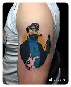kaffe tatovering historyc captain haddock classic real