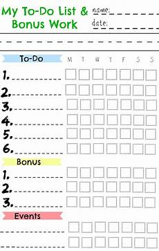 Chore Calendar Kids Chore Chart Great For A Summer Chart Nesting With