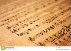 Music On Paper Music Notes On Grunge Paper Stock Image Image Of Archive