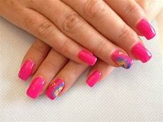 Acrylic Nails With Flower Design 25 Pink Acrylic Nail Art Designs Ideas Design Trends