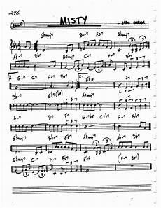 Jazz Chord Chart For Piano Jazz Standard Realbook Chart Misty Jazz Sheet Music