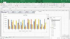 How To Chart Data In Excel Showing Filters In Charts Excel 2016 Charts Youtube