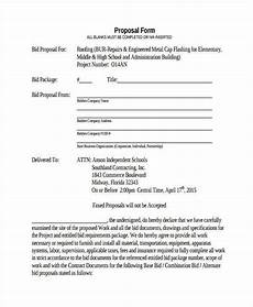 Roofing Proposal Forms Free 38 Sample Blank Proposal Forms In Pdf Excel Ms Word