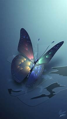 butterfly wallpaper in iphone blue glowing butterfly iphone wallpaper color glitter