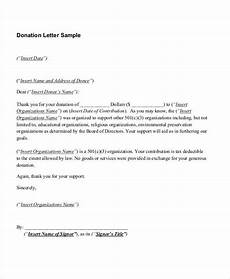 Thank You Letter For Donation Template 10 Sample Donation Thank You Letters Doc Pdf Free