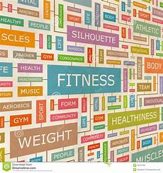 Words Related To Fitness Fitness Stock Vector Illustration Of Marketing Abstract